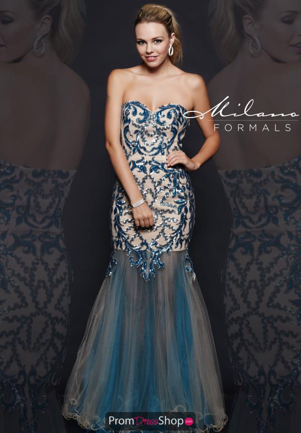 Milano Formals Fitted Long Dress E1906