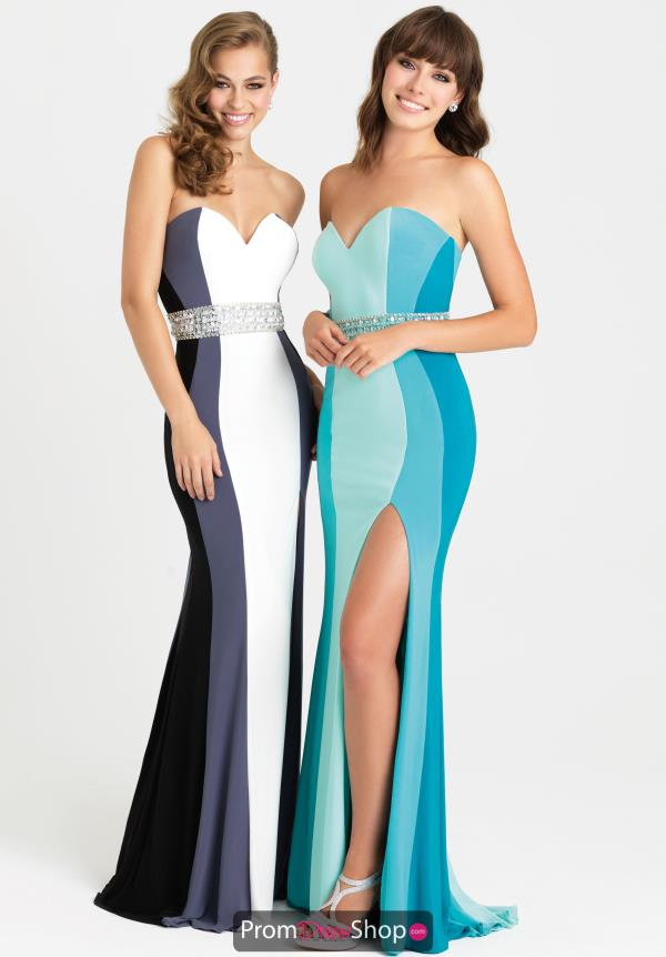 Strapless Jersey Madison James Dress 16-381