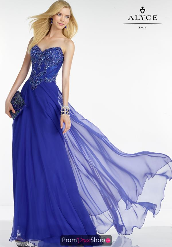 Strapless Long Alyce Paris Dress 5731