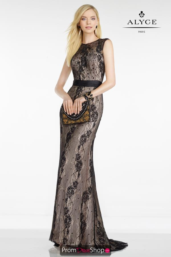 Long Fitted Alyce Paris Dress 5760