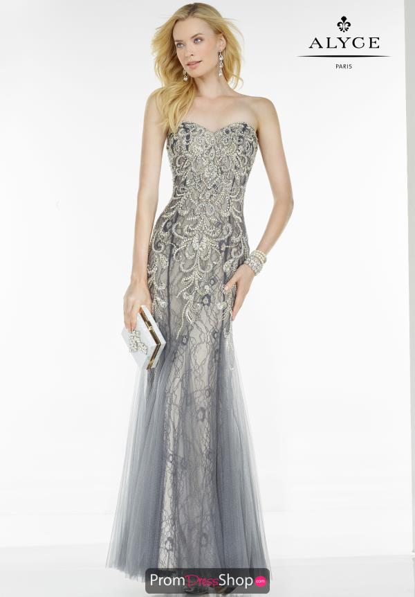 Strapless Fitted Alyce Paris Dress 5773
