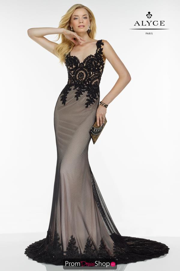 Long Fitted Alyce Paris Dress 5792