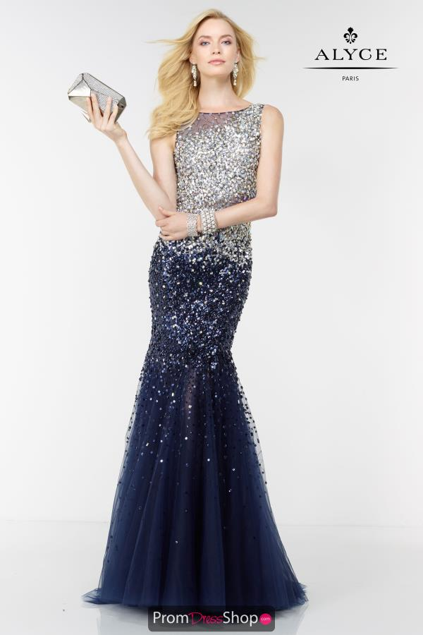 Long Fitted Alyce Paris Dress 6612