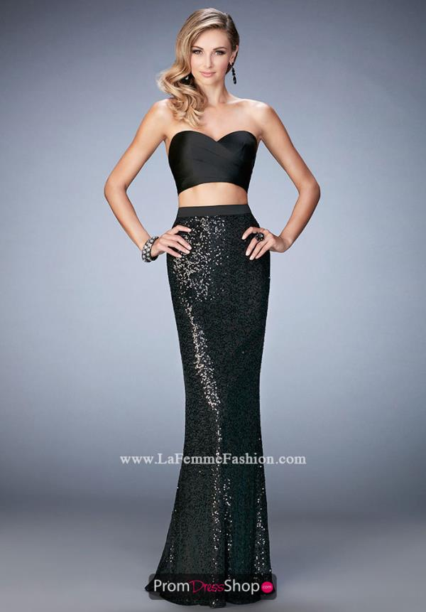 Fitted Sequins La Femme Dress 22151