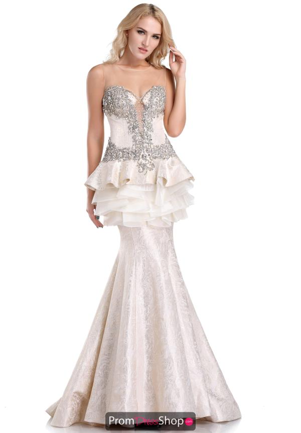 Beaded Mermaid Romance Couture Dress RD1605