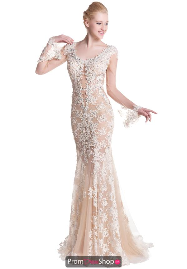 Romance Couture Long Beaded Dress RG2421