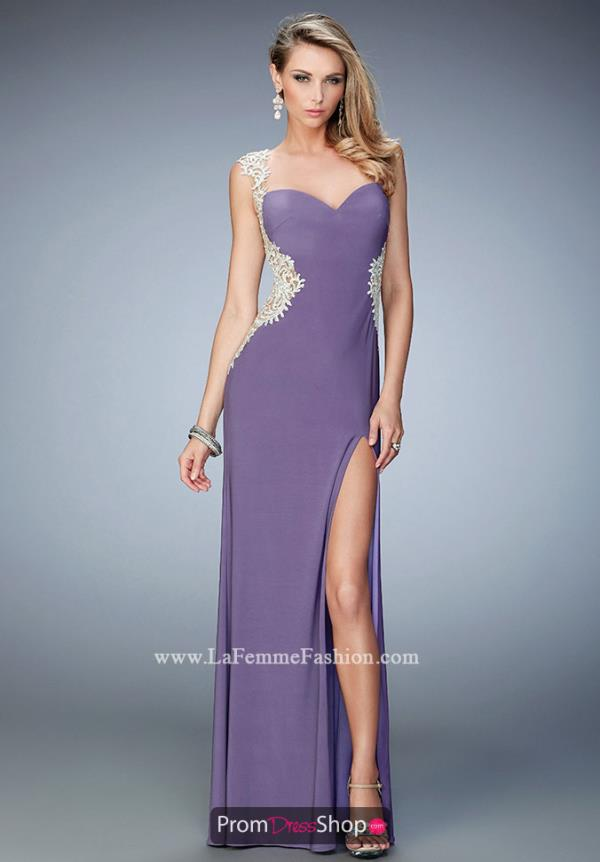 La Femme Long Jersey Dress 21518