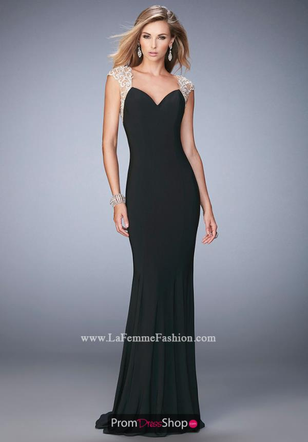La Femme Jersey Fitted Dress 21529