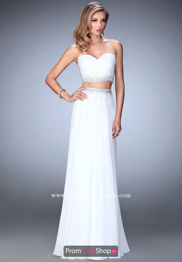 Long Strapless La Femme Dress 22069