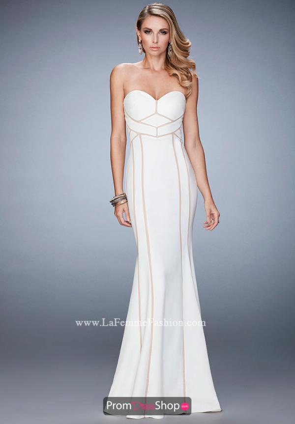 Strapless Fitted La Femme Dress 22205