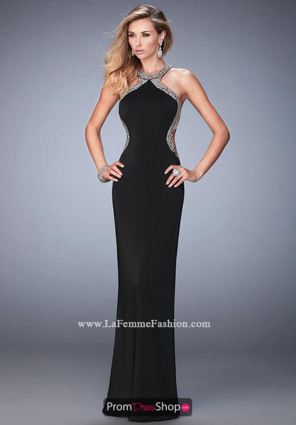 La Femme Jersey Fitted Dress 22225