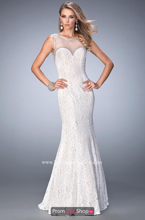 Lace Fitted La Femme Dress 22314