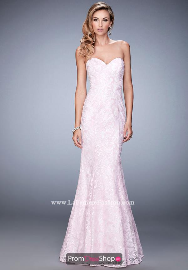 Long Beaded La Femme Dress 22431