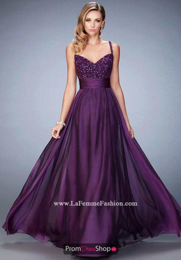 Special Occasion Purple La Femme Dress 22433