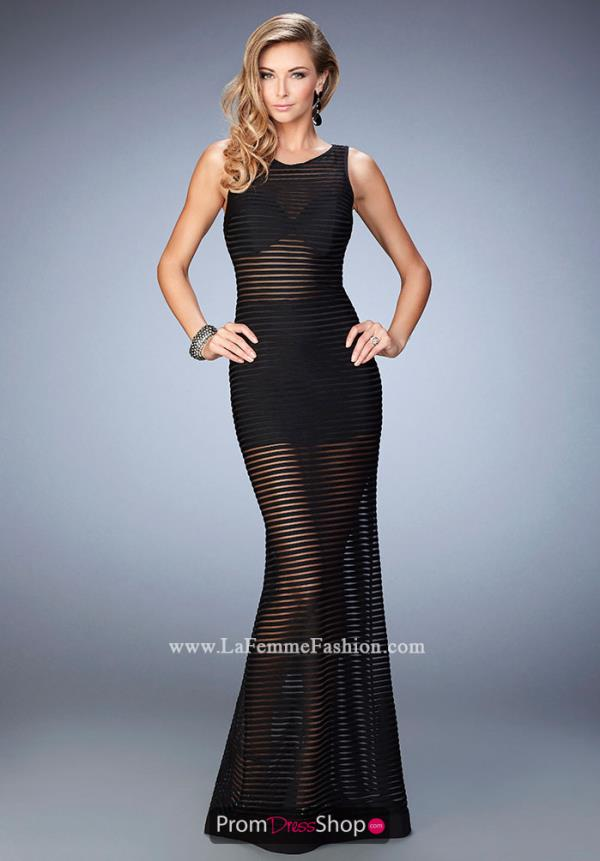 La Femme Jersey Fitted Dress 22441