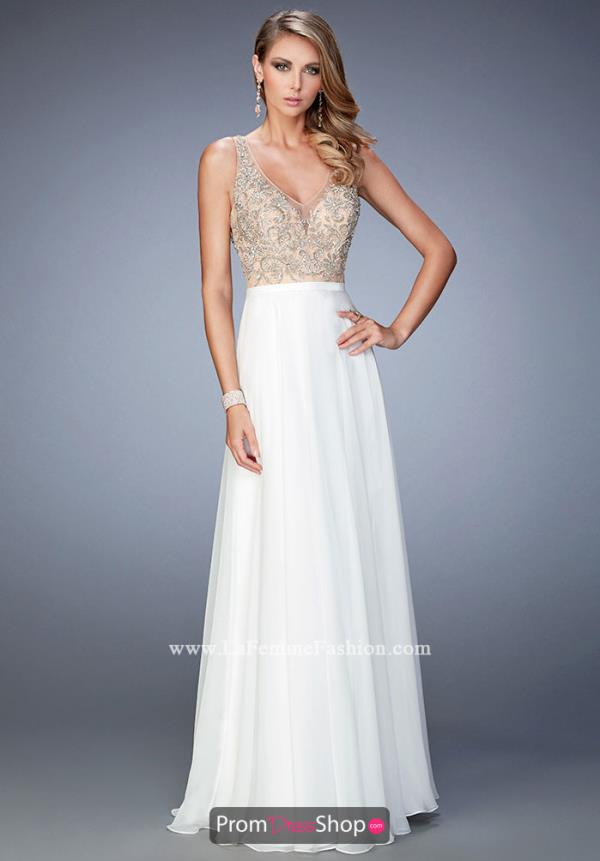 Beaded A Line La Femme Dress 22517