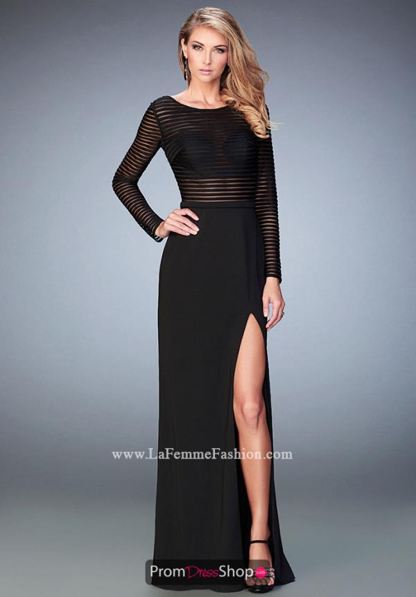 Fitted Black La Femme Dress 22539