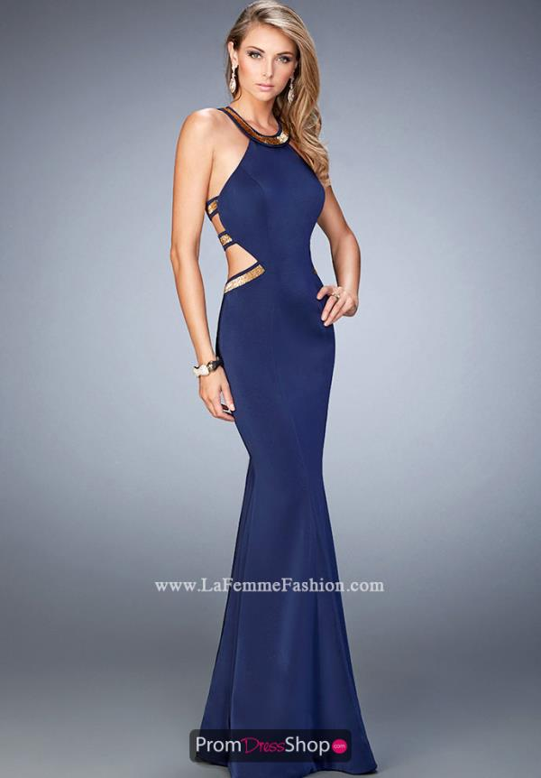 Long Jersey La Femme Dress 22568