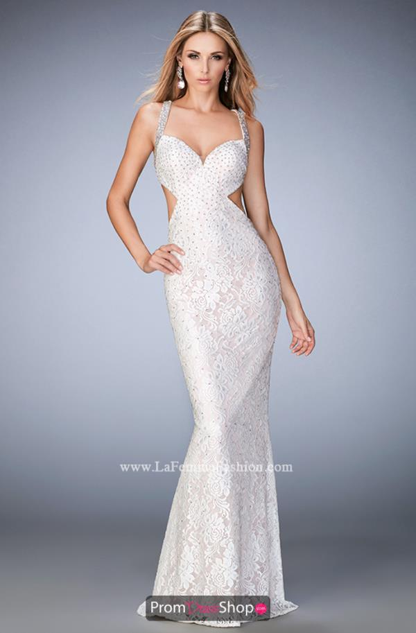 Sexy Back Lace La Femme Dress 22740