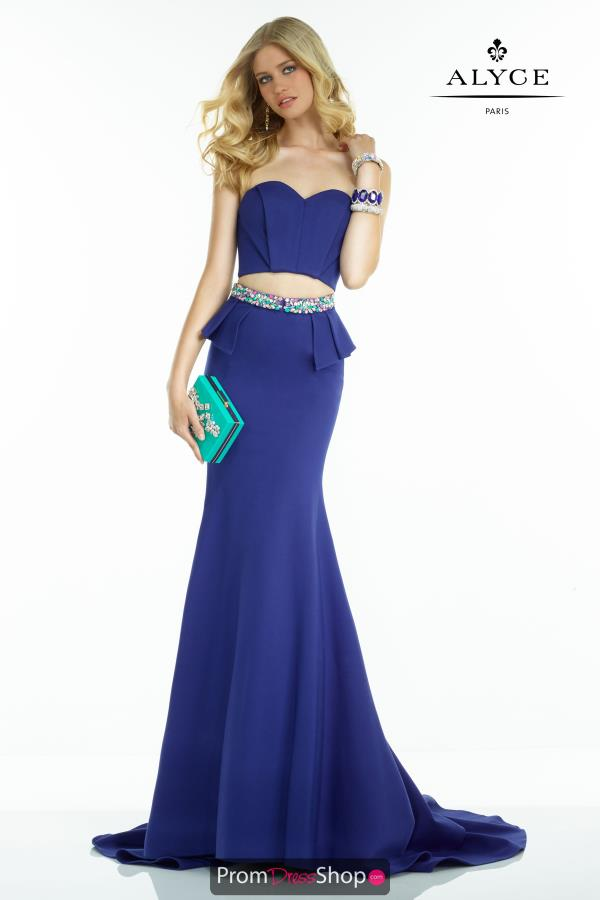 Long Fitted Alyce Paris Dress 2554