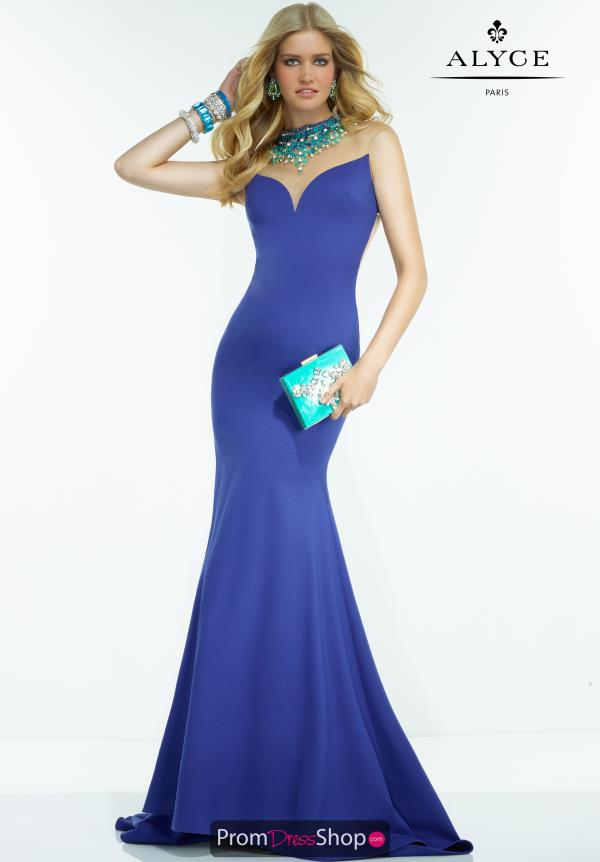 Long Fitted Alyce Paris Dress 2557