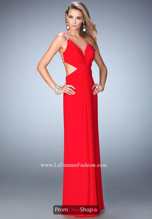 Fitted Long La Femme Dress 22384