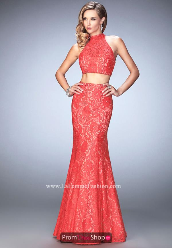 Long Fitted La Femme Dress 22393
