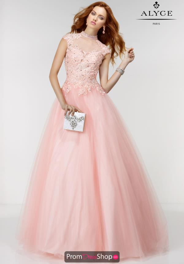 Long Beaded Alyce Paris Dress 6514