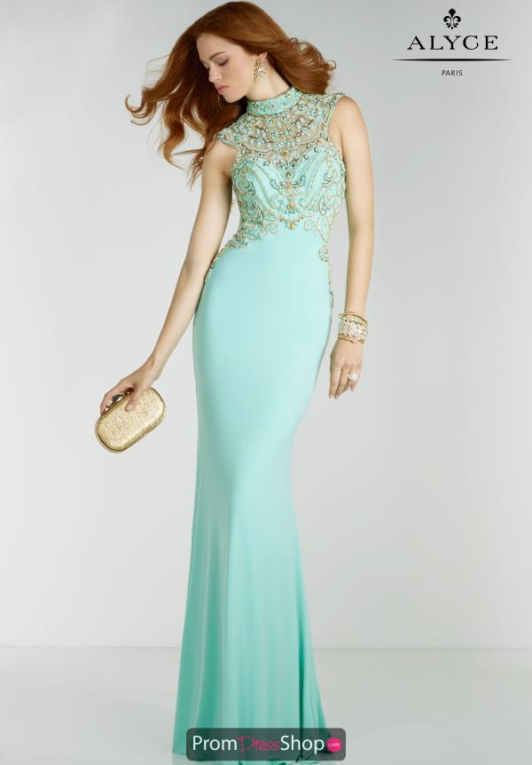 Alyce Paris Beaded Long Dress 6518