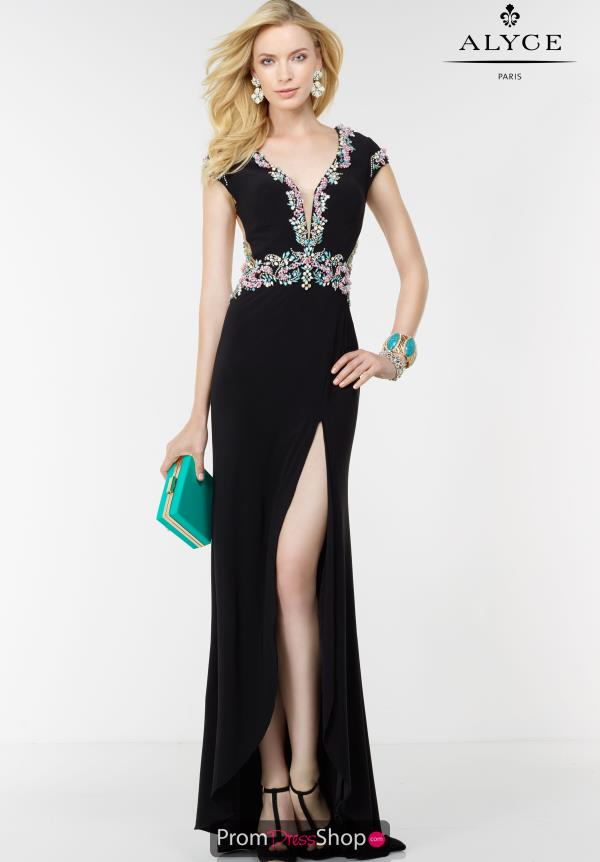 Alyce Paris Long Jersey Dress 6522
