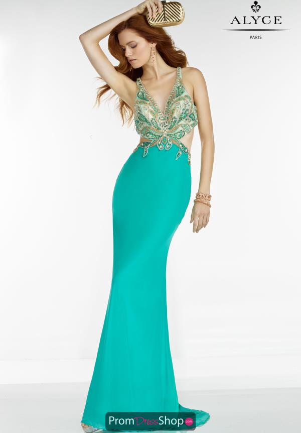 Long Fitted Alyce Paris Dress 6524