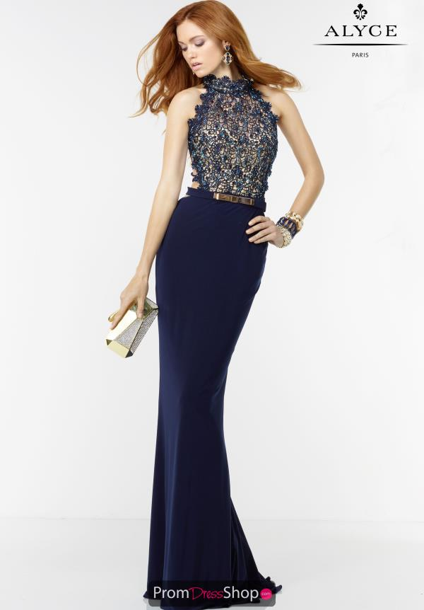 Alyce Paris Beaded Jersey Dress 6529