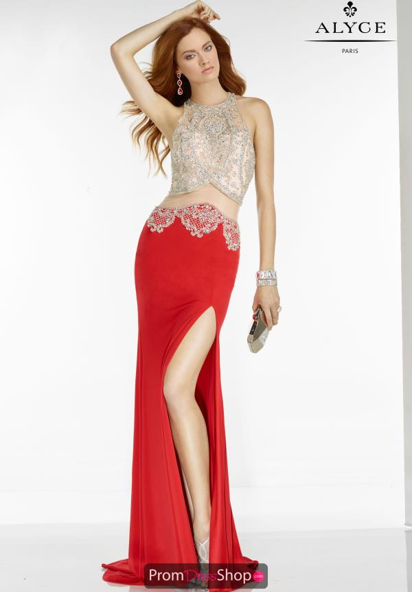 Beaded Two Piece Alyce Paris Dress 6535