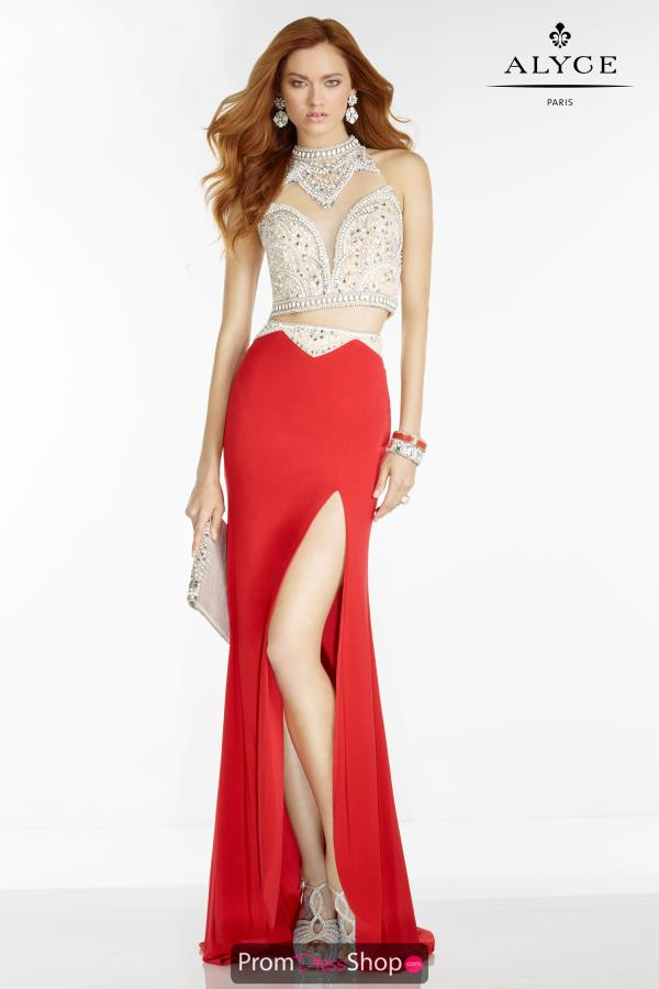Beaded Two Piece Alyce Paris Dress 6536