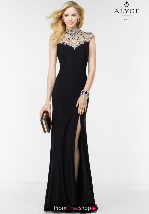 Alyce Paris Fitted Long Dress 6538