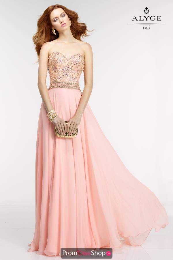 Strapless Chiffon Alyce Paris Dress 6571