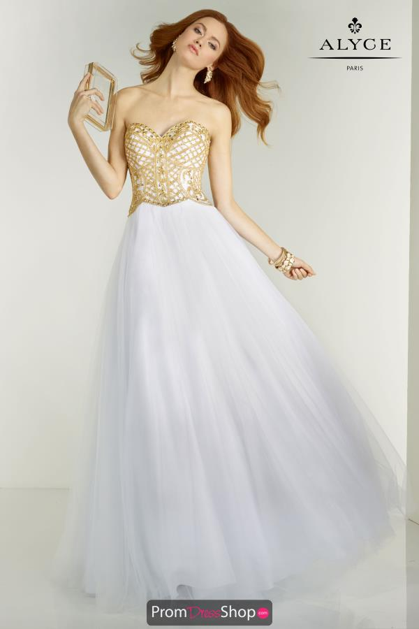 Beaded Ball Gown Alyce Paris Dress 6574