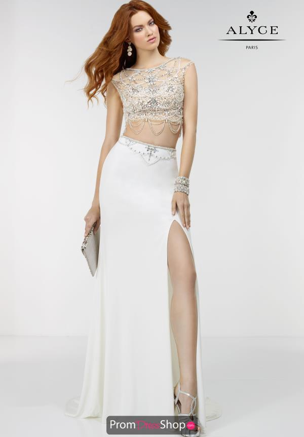 Two Piece Beaded Alyce Paris Dress 6504