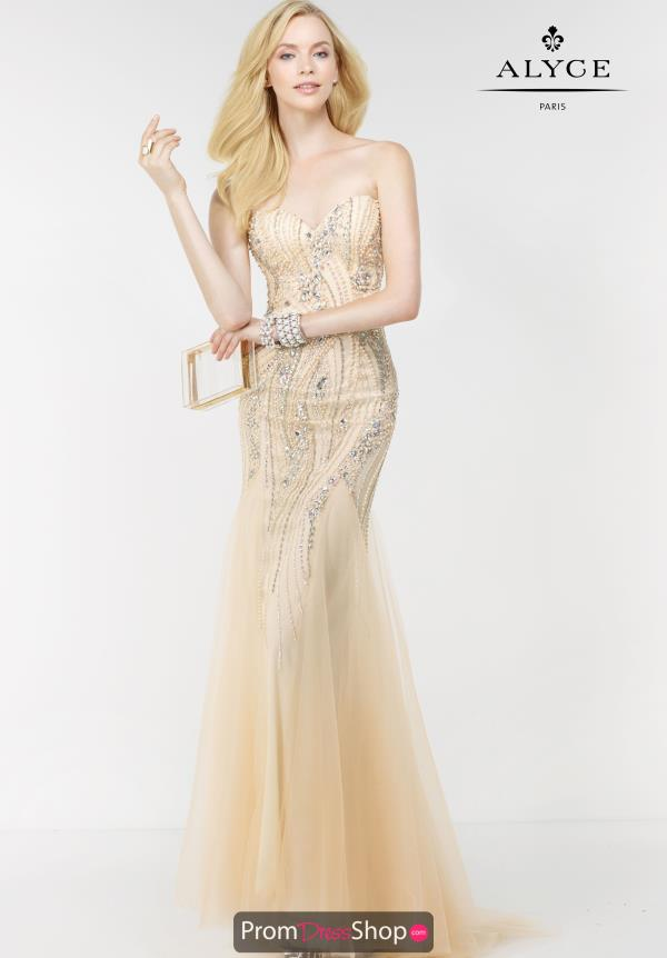 Alyce Paris Fitted Long Dress 6509