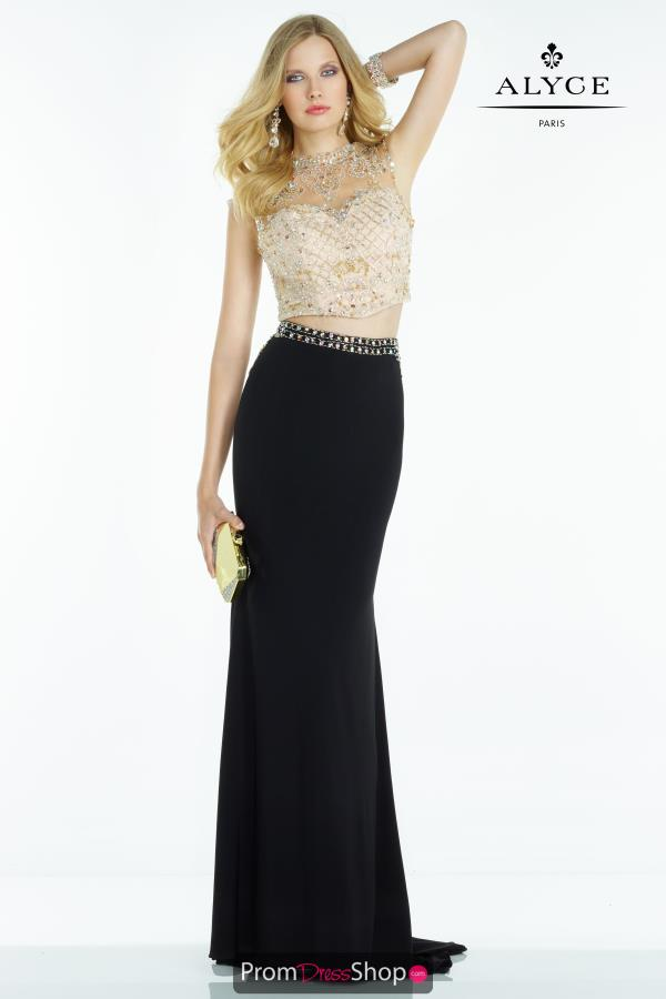 Open Back Fitted Alyce Paris Dress 6589