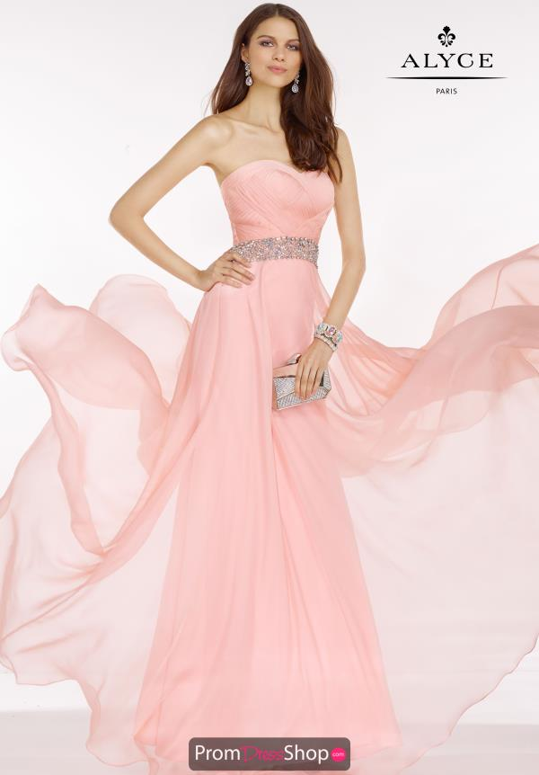 A line Alyce Paris Prom Dress 6604