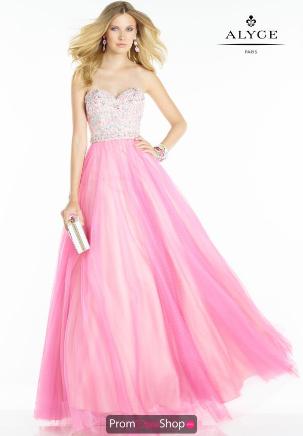Alyce Paris Prom Ball Gown Dress 6610