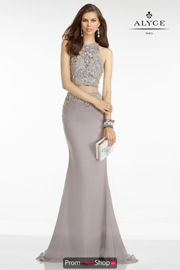 Long Fitted Alyce Paris Dress 6616