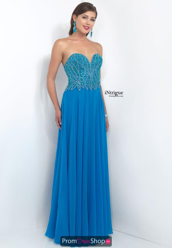 Intrigue by Blush Long Beaded Dress 173