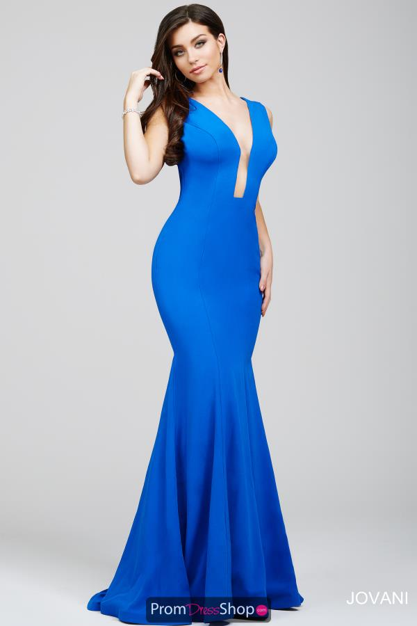 Jovani Sexy Navy Mermaid Dress 22764