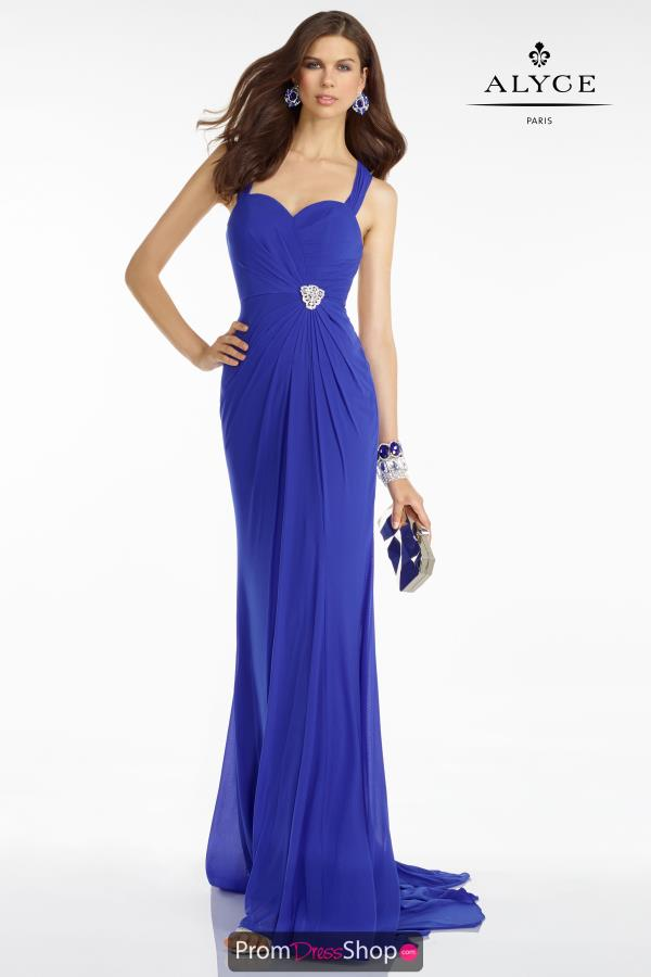 B'Dazzle Open Back Fitted Marine Ball Dress 35804