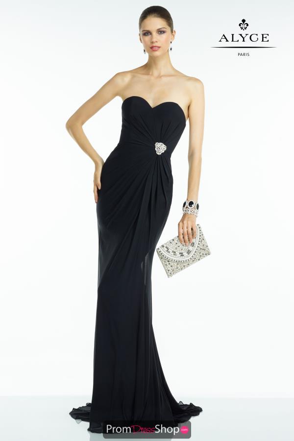Long Elegant Navy B'Dazzle Dress 35805