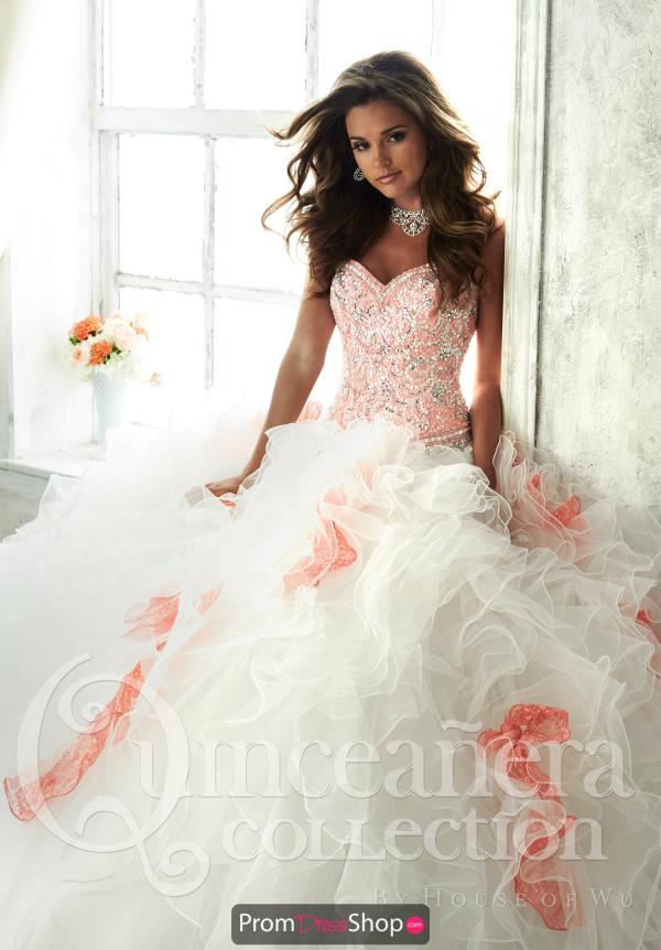 Tiffany Quinceanera Strapless Ball Gown 26804
