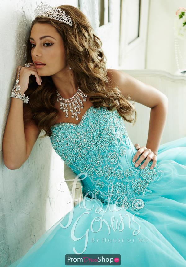 Tiffany Fiesta Quince 56285 Full Tulle Skirt Dress
