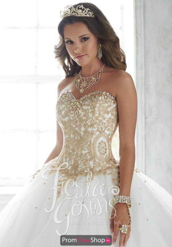 Strapless Tiffany Fiesta Quinceanera Dress 56286